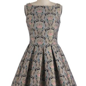 BB Dakota Brocade Fit & Flare Dress size 2